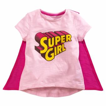 Harga LM026 Girls Pink Supergirl Tee with Cape