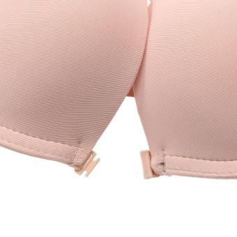 WomenEbroidered Front Y trap Puh Up Deep V Bra - 2
