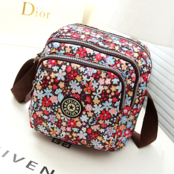 Harga Handbags small bag diagonal package multilayer zipper small cloth bag shoulder bag diagonal package korean version of casual fashion small bag (Color small flowers)
