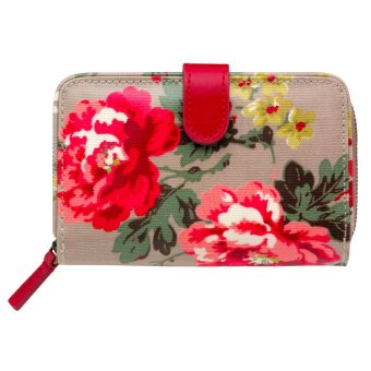 Harga Cath Kidston folded zip wallet coin wallet card holder (Winter rose Grey)
