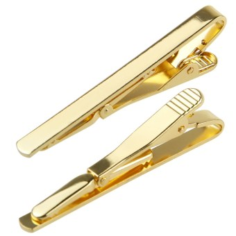 Fashion Mens Boys Metal Silver Gold Simple Necktie Tie Bar Clasp Pin Clip GiftGold