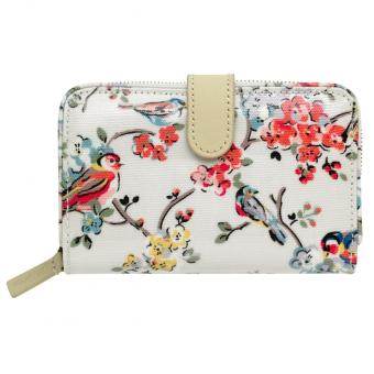 Harga Cath Kidston folded zip wallet coins wallet card holder (Blossom birds ivory)