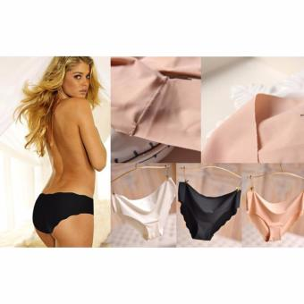 Harga 5x Victoria S. Seamless Hiphugger Stretchable Panties with Wavy Ends
