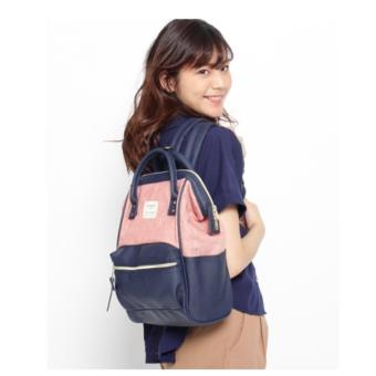Harga authentic Japan anello backpack (anello x the emporium, limited edition) Japan hot selling (ORANGE / NAVY COLOR)