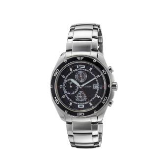 Harga Citizen Watch Chrono Silver Stainless-Steel Case Stainless-Steel Bracelet Mens Japan NWT + Warranty AN3440-53E