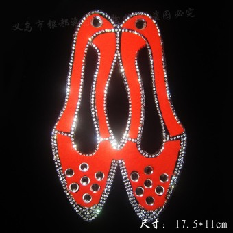 Harga Custom rhinestone diamond patterned clothes chest jewelry diy super bright flash stick drill fruit orange shoes