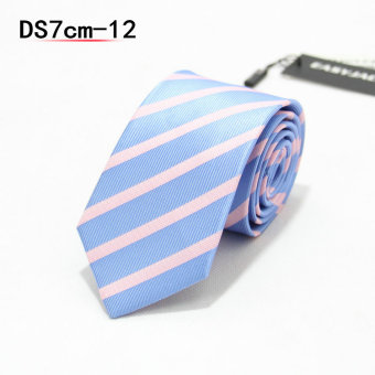 Harga Tie male formal wear business tie 7cm narrow version tie male korean version of the influx of casual black and red checkered career (DS7CM-12)