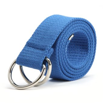 Harga Fashion Weave Canvas Belts (blue)