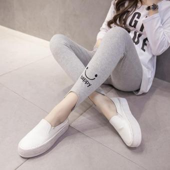 005# Soft Cashmere Maternity Skinny Legging Spring Summer Clothes for Pregnant Women Elastic Waist Belly Pregnancy Legging - intl - 4