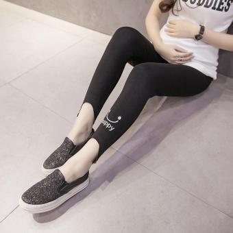 005# Soft Cashmere Maternity Skinny Legging Spring Summer Clothes for Pregnant Women Elastic Waist Belly Pregnancy Legging - intl - 2