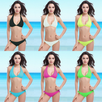 Harga Fashion Sexy Swimsuits Bikinis (White-15) - intl