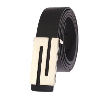 Korean New Style Men S Letter Buckle Belt MBTZ95 - Intl