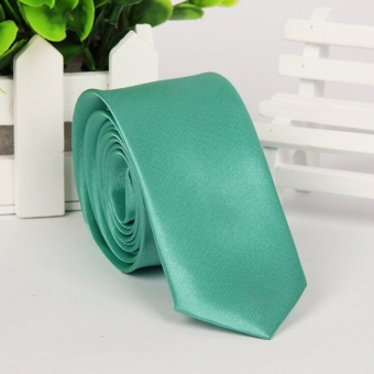 Fashion hot Business Men's Plain Silk Jacquard Woven Tie Necktie Mint Green
