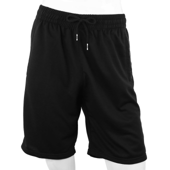 Harga Athletic Running Sport Loose Male Shorts (4XL) (Black) - intl
