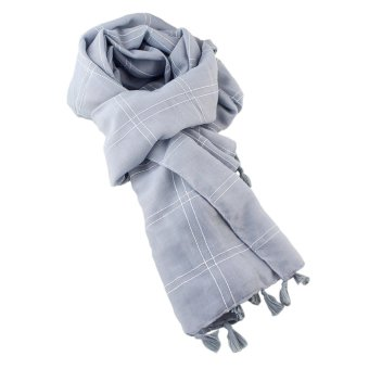 Feelontop New Coming Winter Stripes Cotton Wide Knitting Scarf - intl - 3