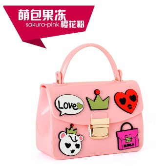 Cute square chain jelly small bag