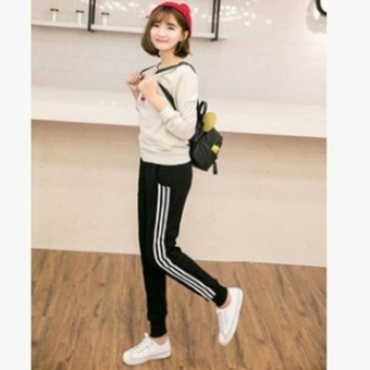 Harga YingWei Fashion Girls Ladies Casual Harlan Pants Female Loose Cotton Sports Pants Slim Sweatpants Long Trousers(Black) - intl