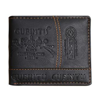Harga Mens Leather Bifold Card Holder Wallet(Brown)