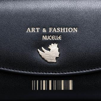 NUCELLE Women Real Genuine Leather Purse Money Checkbook Wallet Clutch Bag Long Fashion (Black) - intl - 4