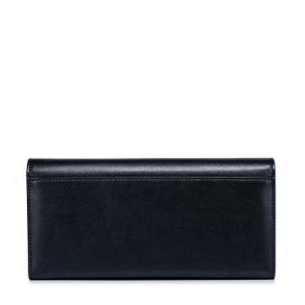 NUCELLE Women Real Genuine Leather Purse Money Checkbook Wallet Clutch Bag Long Fashion (Black) - intl - 3