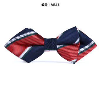 Harga Children bow tie baby boy korean bow pointed bow tie dress tide models accessories performances of student activities (Sharp blue and red striped m316)
