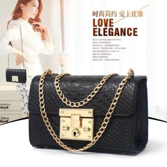 Harga The new snake chain bangalor Korean fashion SATCHEL BAG BAG exquisite lock - intl