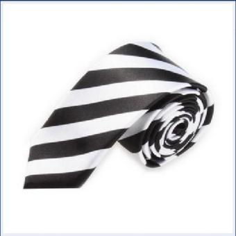 Casual Slim Plain Mens Solid Skinny Neck Party wedding Tie Silk Necktie - intl