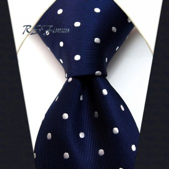 Harga White small dot tie
