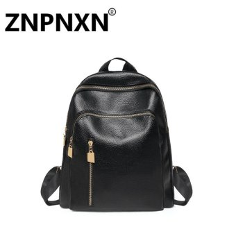 Harga ZNPNXN Fashion casual ladies shoulder bag travel bag (Black) - intl