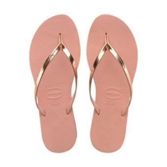 Harga Upgraded Version Havaianas Women's Slim Filp Flop Beach Shoes Slipper For Unisex Christmas Gift Birthday Present Pink - intl
