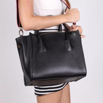 Harga Geraldine Twin Zip Hand Bag (Black)