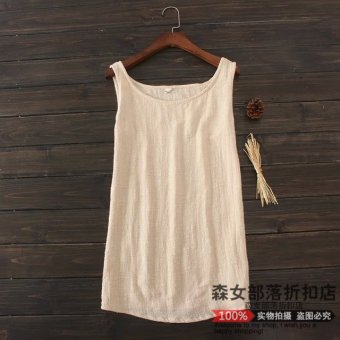 Harga Pleione original design linen vest female summer new sen female line simple cotton backing camisole