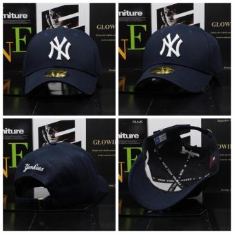 Harga New Fashion NY Logo New York Yankee Snapback 9Fifty Baseball Cap Hip Hop Cap (Dark blue)