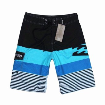 Billabong Men's New Fashion Boardshorts Quick-drying Fabric Beach Shorts With Drawcord Striped Surfing Shorts - intl