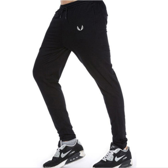 Jirouxiongdi autumn men's I fitness pants (Black)