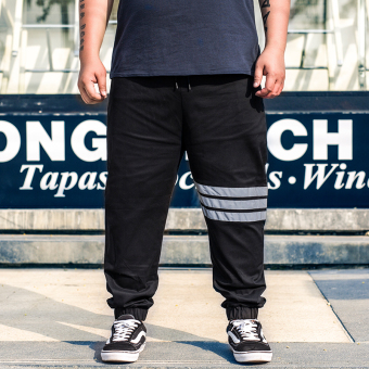 Jsmix Plus-sized men extra-large sports pants bandage cloth casual pants