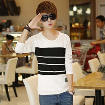 Korean-style autumn New style Slim fit T-shirt (White) (White)