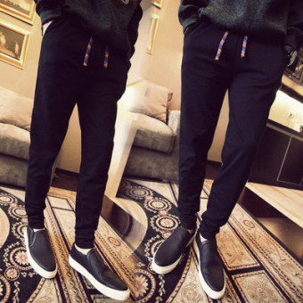 Harga Korean-style men New Style High School Students ankle-length pants casual pants (Cai Sheng thin)