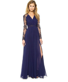 Lace Chiffon Formal Party Cocktail Dress Bridesmaid Prom Gown(EXPORT) - 2