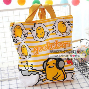 Harga Melody lazy egg cute lunch box lunch bag canvas bag (Couch potatolarge egg) (Couch potato large egg)