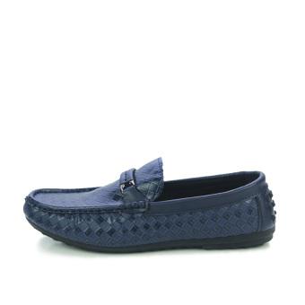 Men's Woven Sandals, Driving Shoes, Peas Shoes, Fashion Comfortable( Blue) - 2