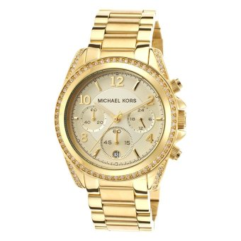 Michael Kors Women's Gold Stainless Steel Strap Watch MK5166