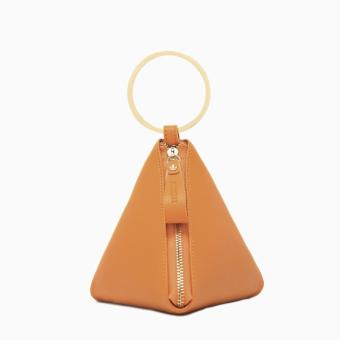 Micocah 2017 summer New style triangle Bao Yuanhuan bag female dumplings bag handbag bag fashion models Korean wild (Yellow)