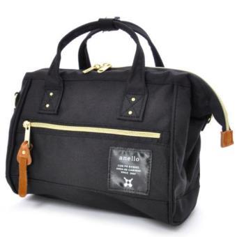 original anello 2 way boston bag shoulder bag (mini size, Black color)