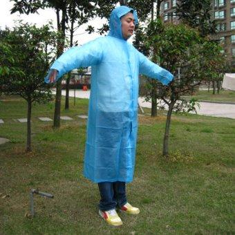 Outdoor Sport Mountain Portable Adult Rain Coats-Blue - intl - 3