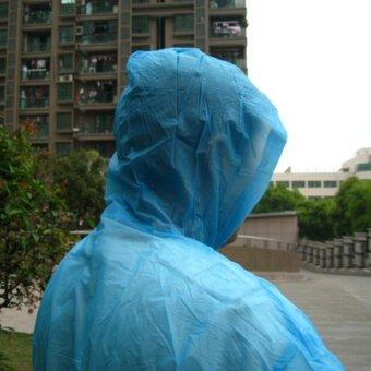 Outdoor Sport Mountain Portable Adult Rain Coats-Blue - intl - 2