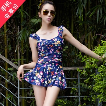piece floral skirt style swimsuit steel prop gather chest pad coverthe belly slimming effect block elephant thick legs small halterswimsuit 1501530326 61634764 07af014042309c2b624c97928704796c product taobao piece swimsuit two wearing thick, popular piece swimsuit,7 Elephant Swimwear