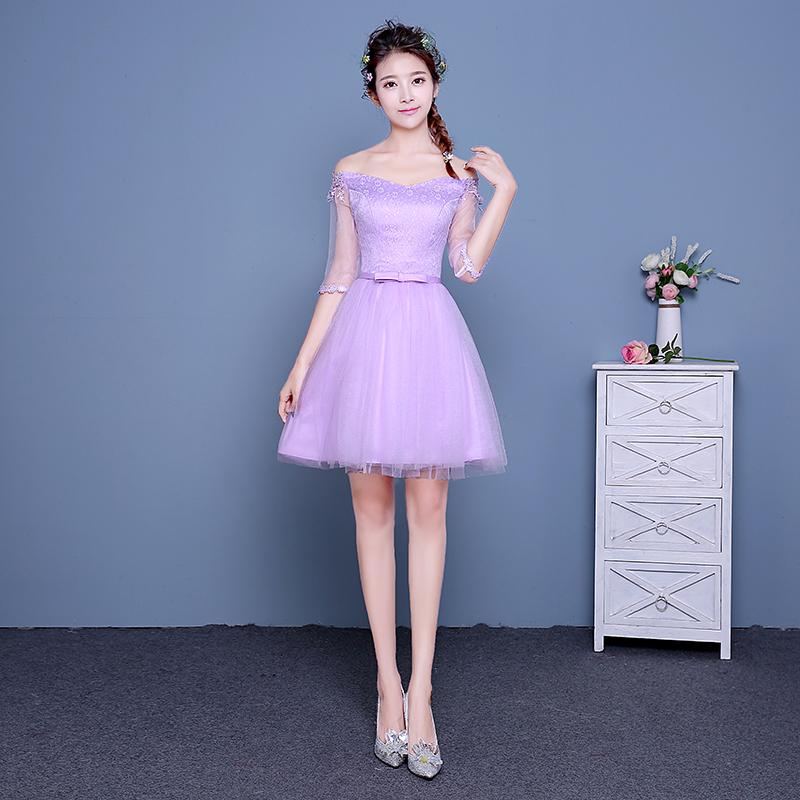 Singapore | Purple bridesmaid sisters dress bridesmaid dress (B ...