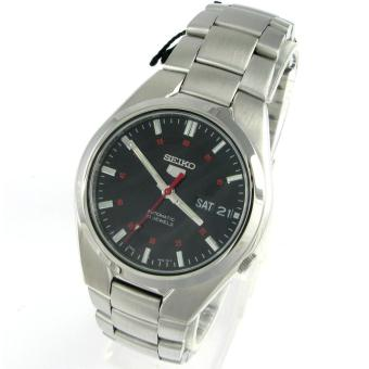 Bracelet Mens Japan Nwt Seiko Watch 5 Automatic Silver Stainless Steel Case .