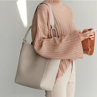 Shoulder different size bags New style women's bag (Black) (Black)